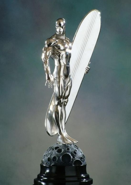 BOWEN-DESIGNS-The-SILVER-SURFER-CHROME-VERSION-STATUE