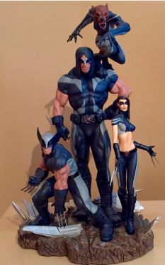 Sideshow-Marvel-X-Men-X-Force-Wolverine-Exclusive-Diorama-Statue